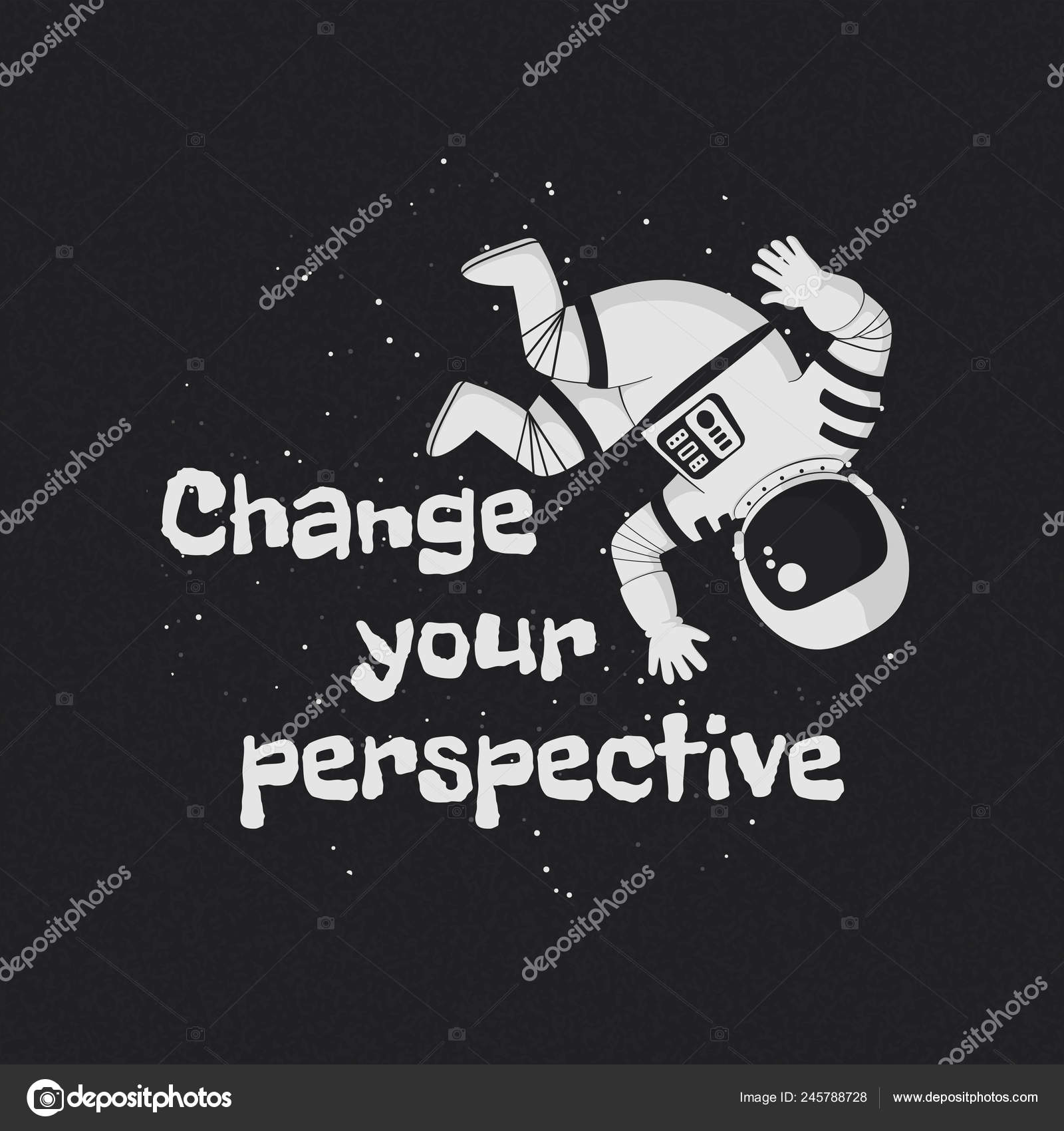 Vector Ilustración Cartel Diseño Camiseta Con Frase Cambio