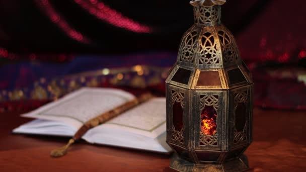 Quran, arabian lantern. Islamic Holy Month. Ramadan, Eid concept
