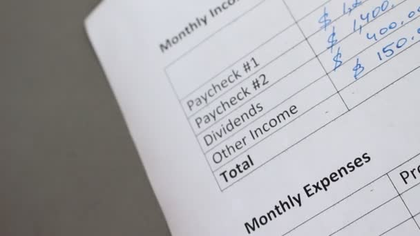 family monthly income expenses creating personal budget mortgage