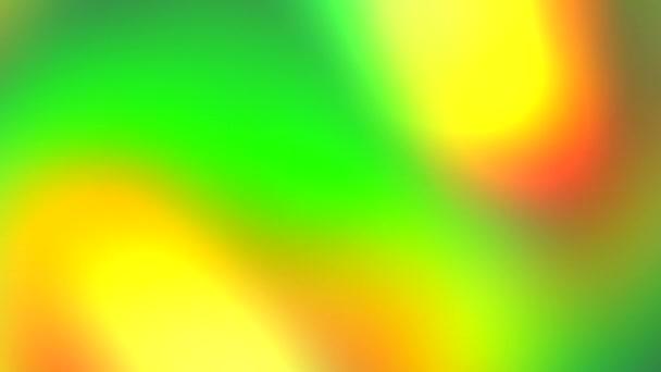 Absztrakt élénk zöld, sárga, narancs szivárvány színek háttér. Mozgó fényshow