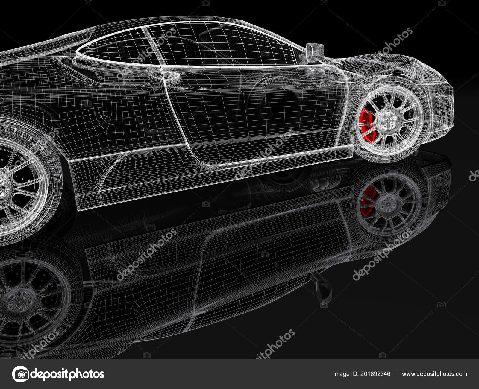 Car vehicle blueprint mesh model red brake caliper black background car vehicle 3d blueprint mesh model with a red brake caliper on a black background 3d rendered image photo by shtanzman malvernweather Gallery