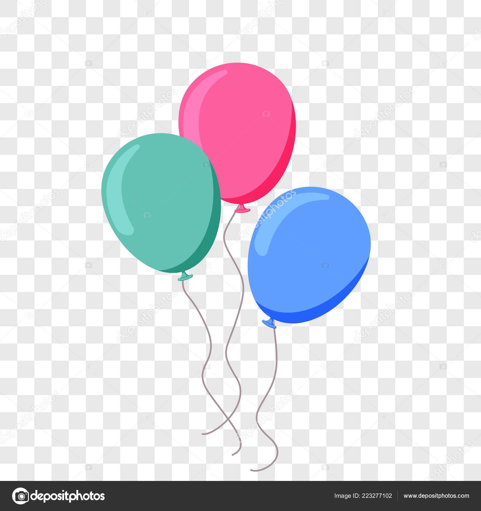 Festa De Aniversário Do Balão Ballon Vector Plana Dos
