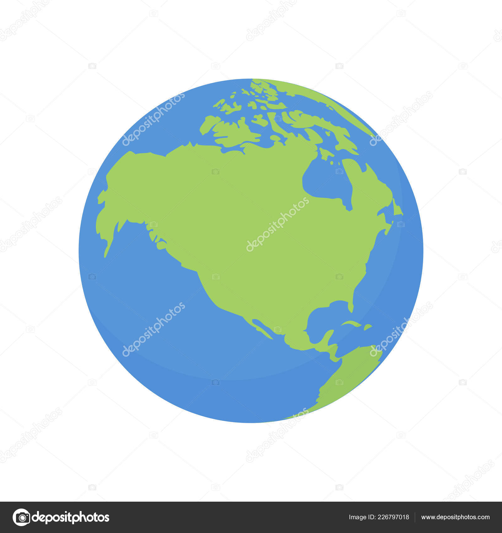 Map Of Canada On Globe.Earth Globe Icon Vector World Planet With Usa And Canada Map