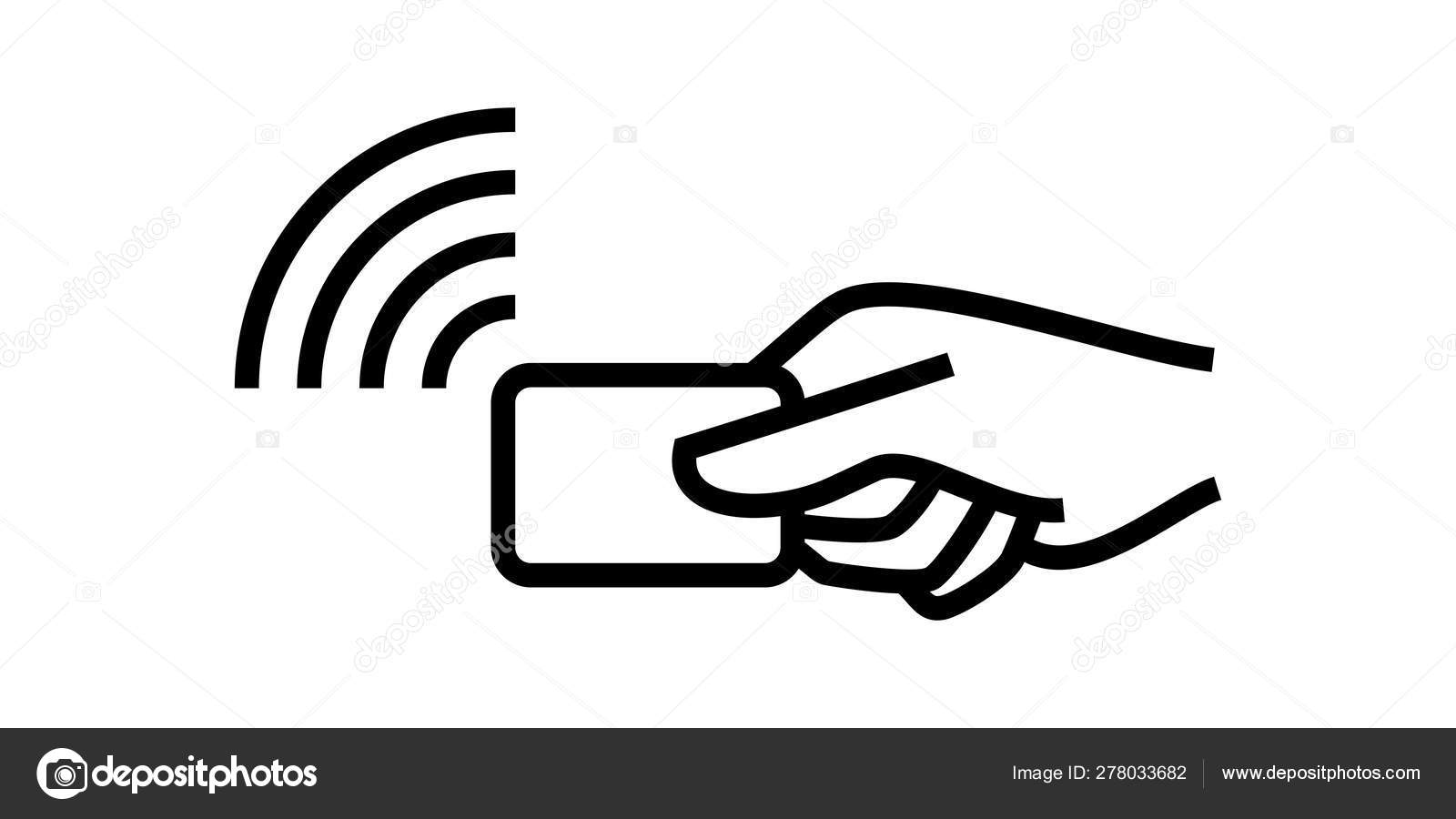 Contactless payment, credit card and hand pay pass logo. Vector wireless  NFC and contactless pay wave POS terminal icon 14