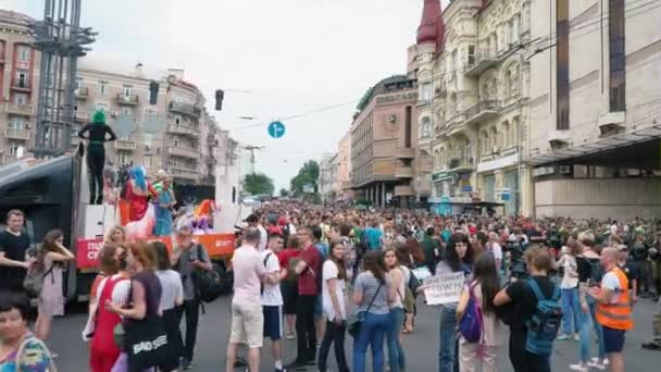 Ukraine, Kyiv, June 17, 2018. March of the LGBT Equality, gay lesbian pride