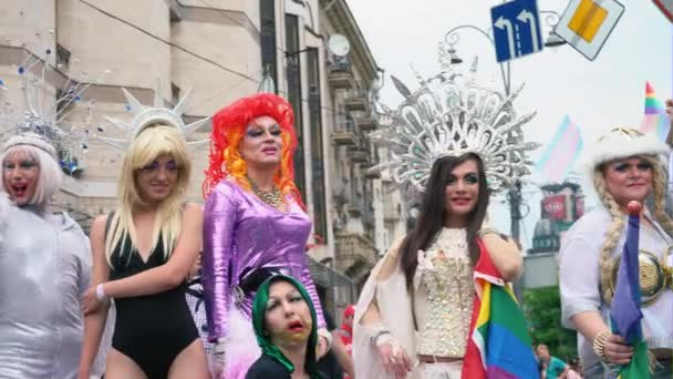 Ukraine, Kyiv, June 17, 2018. March of the LGBT Equality. Transvestites and transgenders