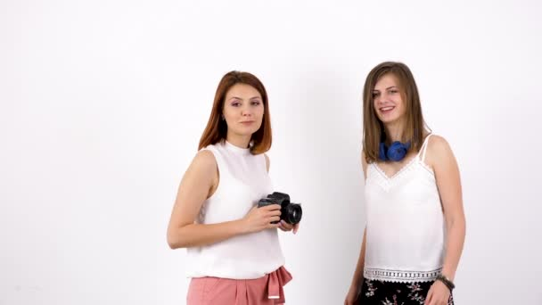 Photographer woman and her friend