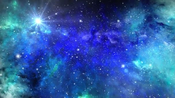 Létání v prostoru pomocí hvězd a mlhoviny