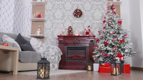 Beautiful room decorated with Christmas ornaments