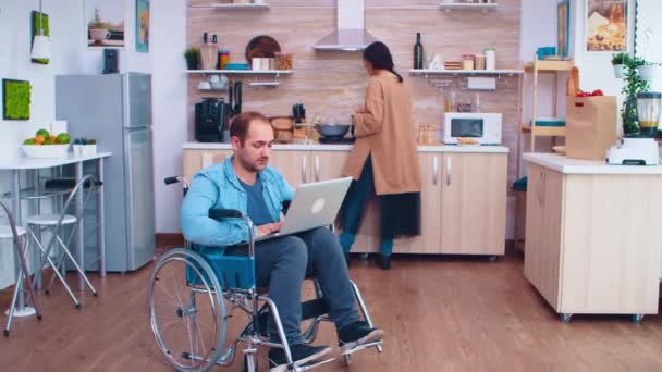 Handicapped entrepreneur in wheelchair