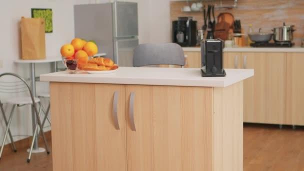 Modern hangulatos belső konyha