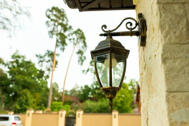 street metal lamp stylized