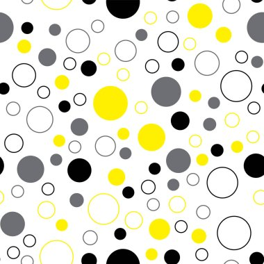 Yellow pattern on a white background. Seamless pattern for packaging, fabric, paper, background. Vector
