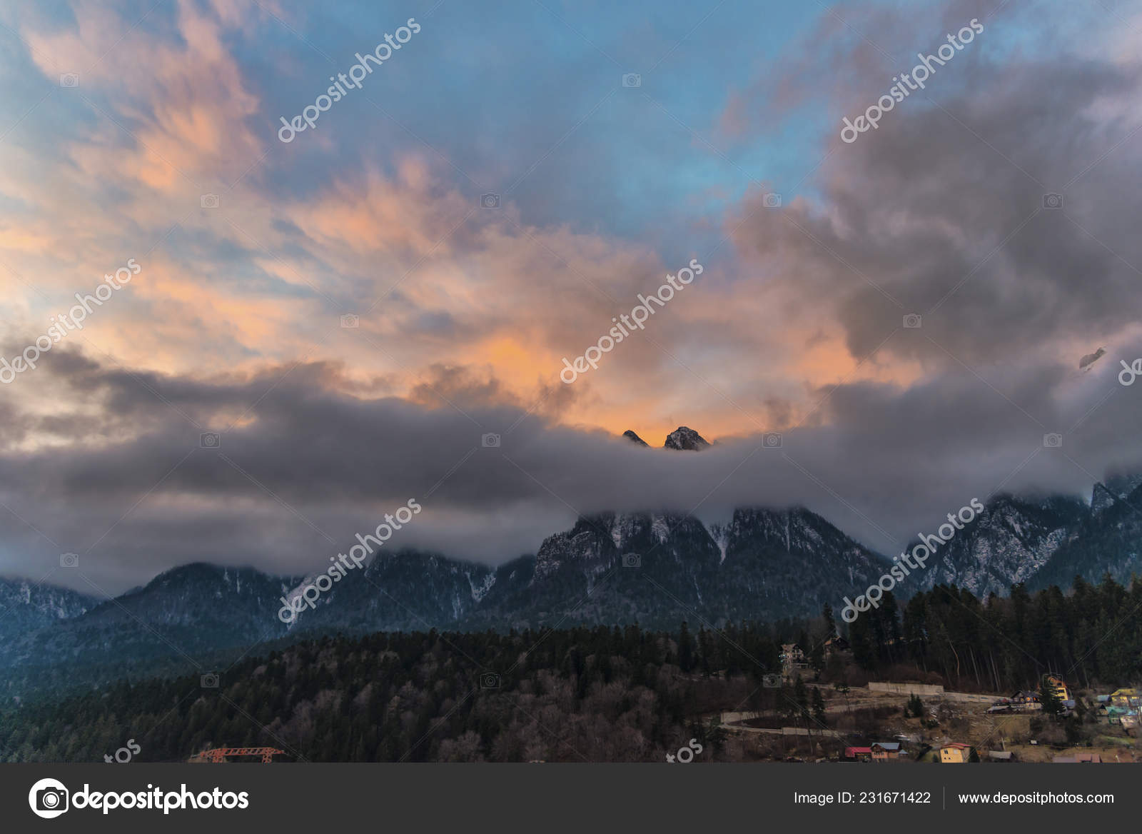 Majestic Purple Sunset Sunrise Sky Mountains Clouds Stock Photo C Somra Stefan Gmail Com 231671422