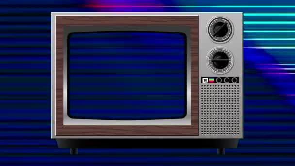 deformace barevných zásahů na starém televizoru
