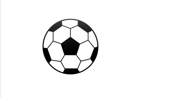 festett futball labda ugrik oldalról oldalra video 4k