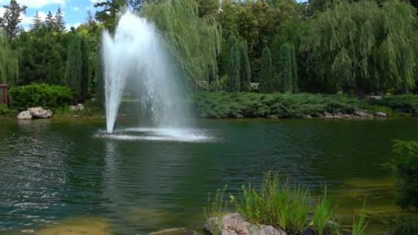 Fontána Stříkání proudy vody do vzduchu