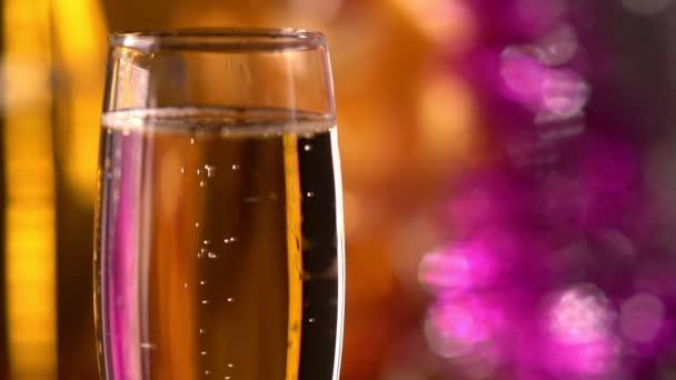 Ünnepi pezsgő csillogó fuvolája