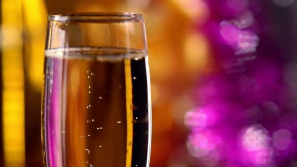 Flute of sparkling champagne for a celebration