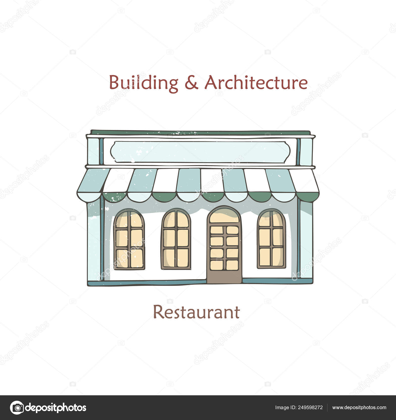 Cafe Shop Storefront Vector Coffee House Vintage Store Front Facade Building With Window Retro Street Exterior Architecture Cartoon Illustration Isolated In Flat Design Hand Drawn Clip Art Stock Vector C Arthouze 249598272