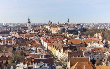 Cityscape view to old town of Tallinn, Estonia