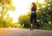Fotografie Žena běžec běží venkovní