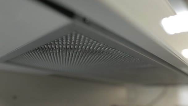 Az új modern konyha hood, közelkép, elektromos kövér szűrő