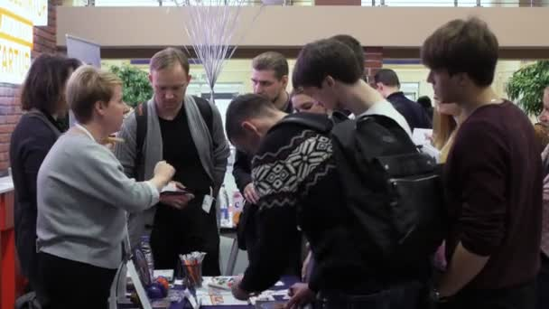 job seekers communicate with employers during open vacancies fair in Hi-Tech Park MINSK, BELARUS 11.24.18