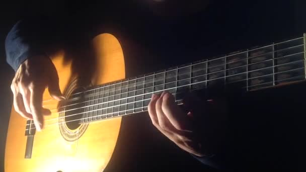 Man playing the code of the etude