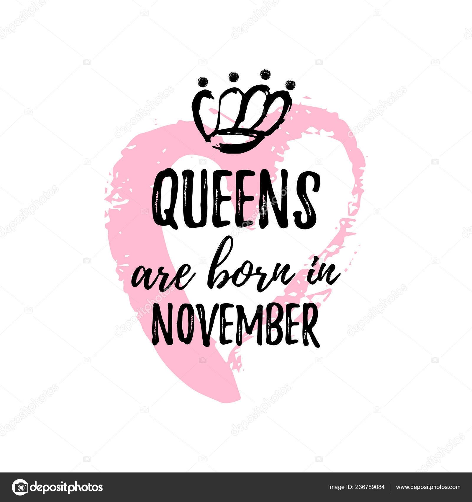 4a6b4df6 Similar Royalty-free Vectors: Queens Born November Typography Illustration  ...