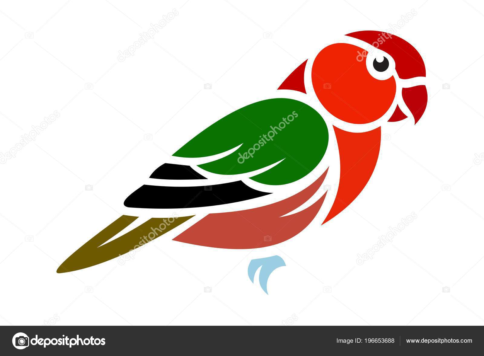 love bird logo vector dsign icon stock vector c adhevaart 196653688 depositphotos