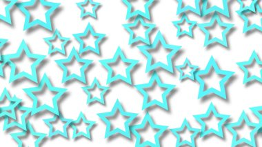 Abstract background of stars with shadows