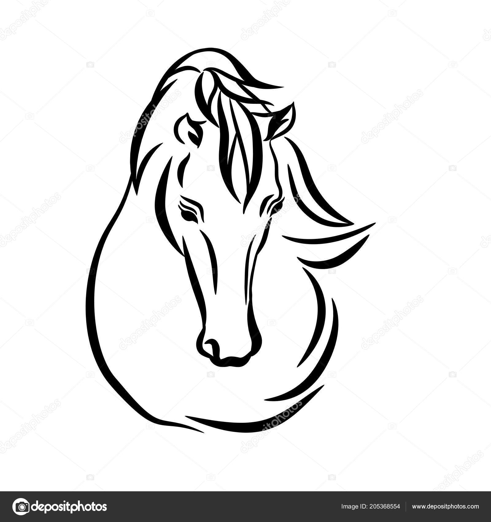 Horse Outline Template Outstanding Horse Outline Template Crest