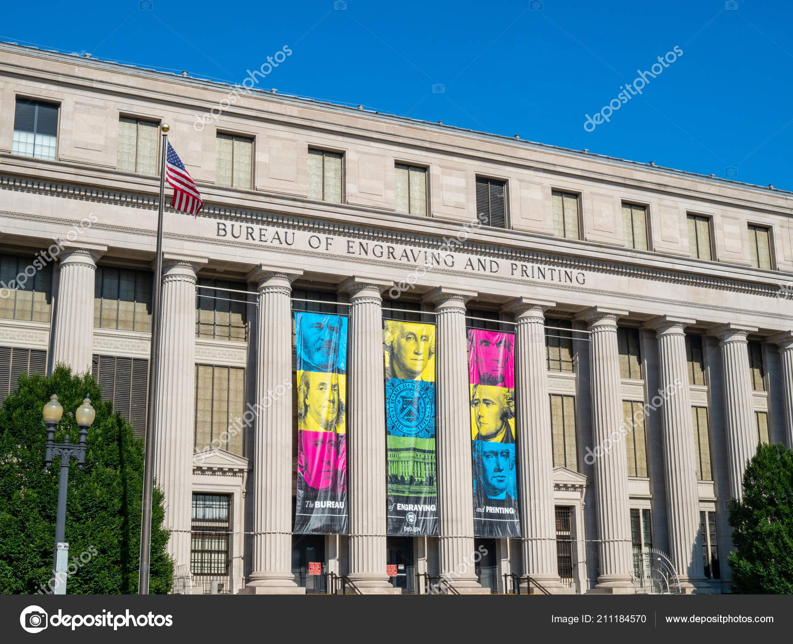 Bureau of Engraving and Printing building – Stock Editorial Photo