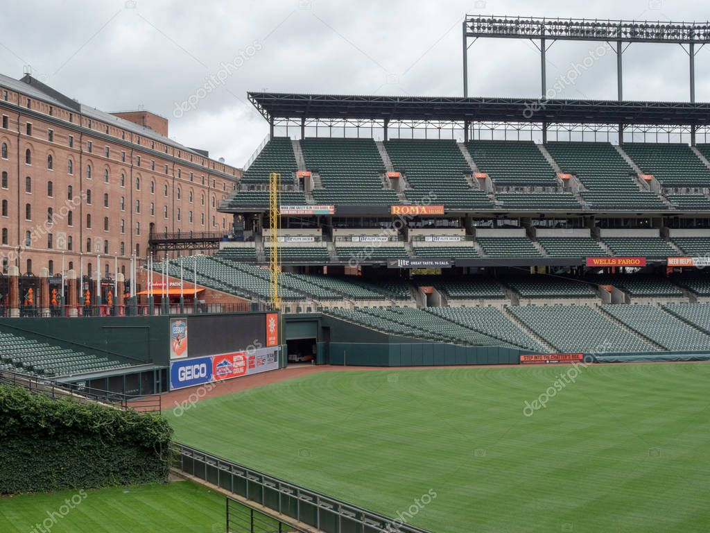 Camden Yards, stadium of the Baltimore Orioles, empty in the offseason