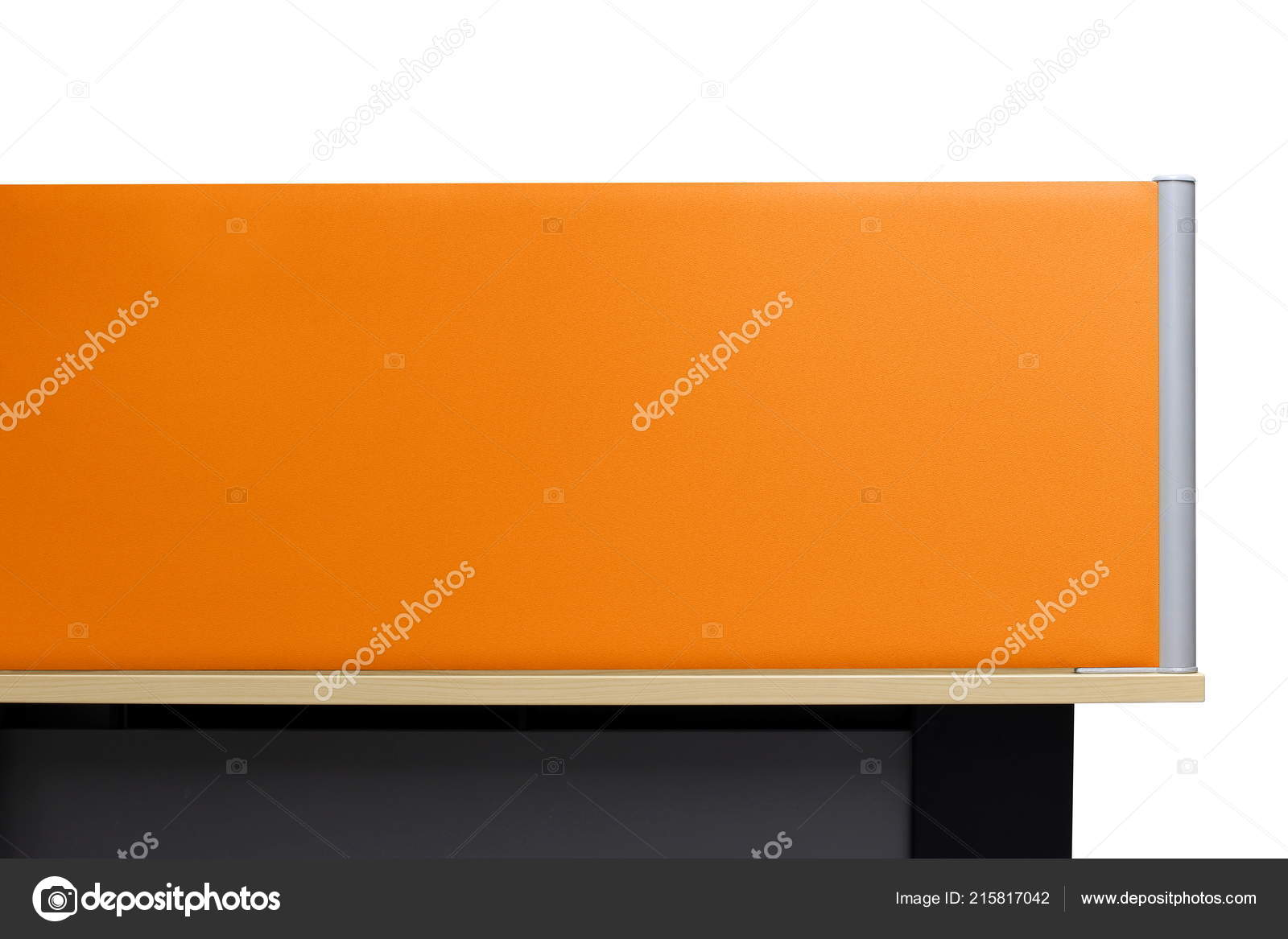 Partition Orange Partition Empty Wall Office Cubicle