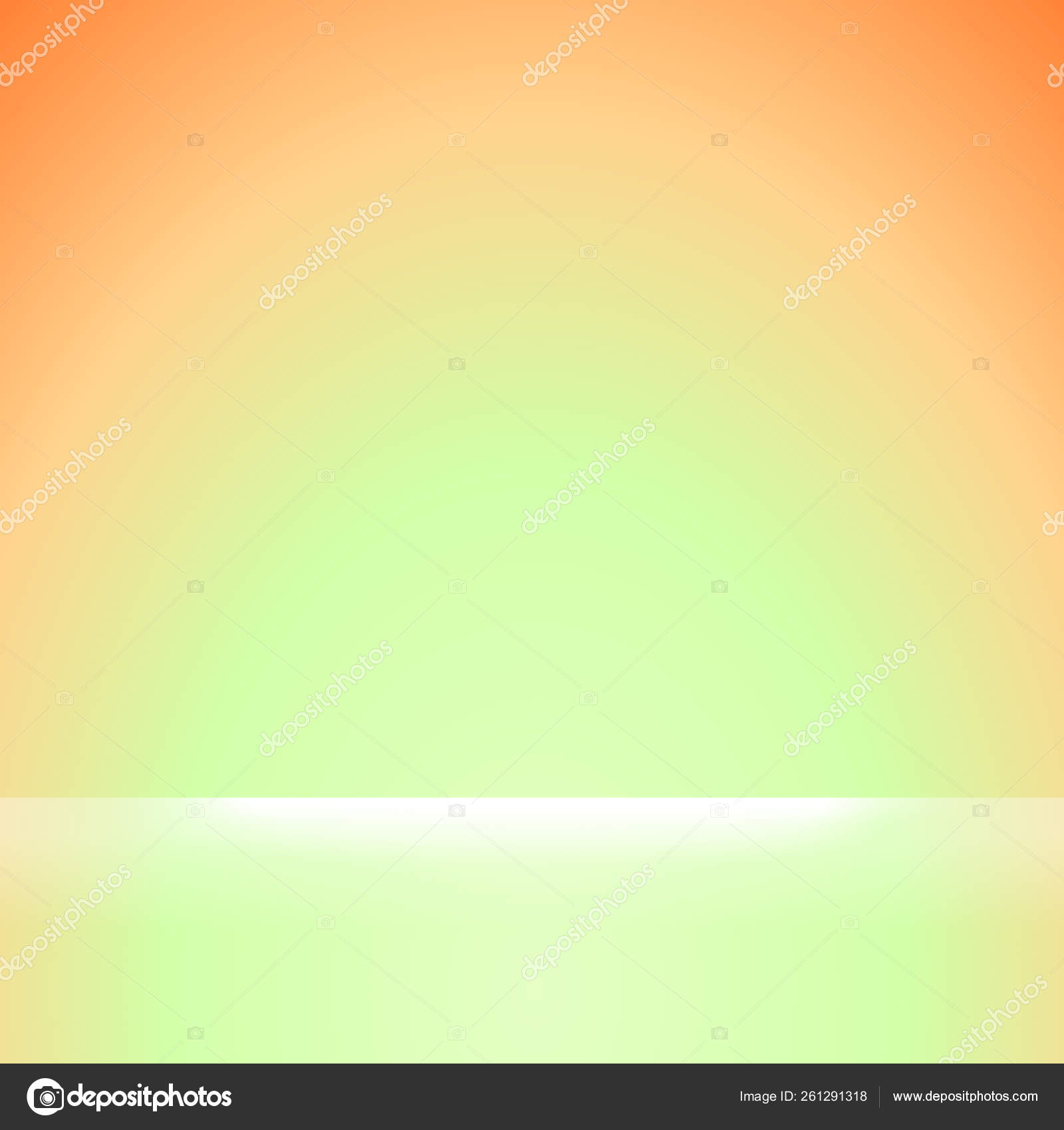 Square Orange Green Gradient Colors Soft White Light Shine