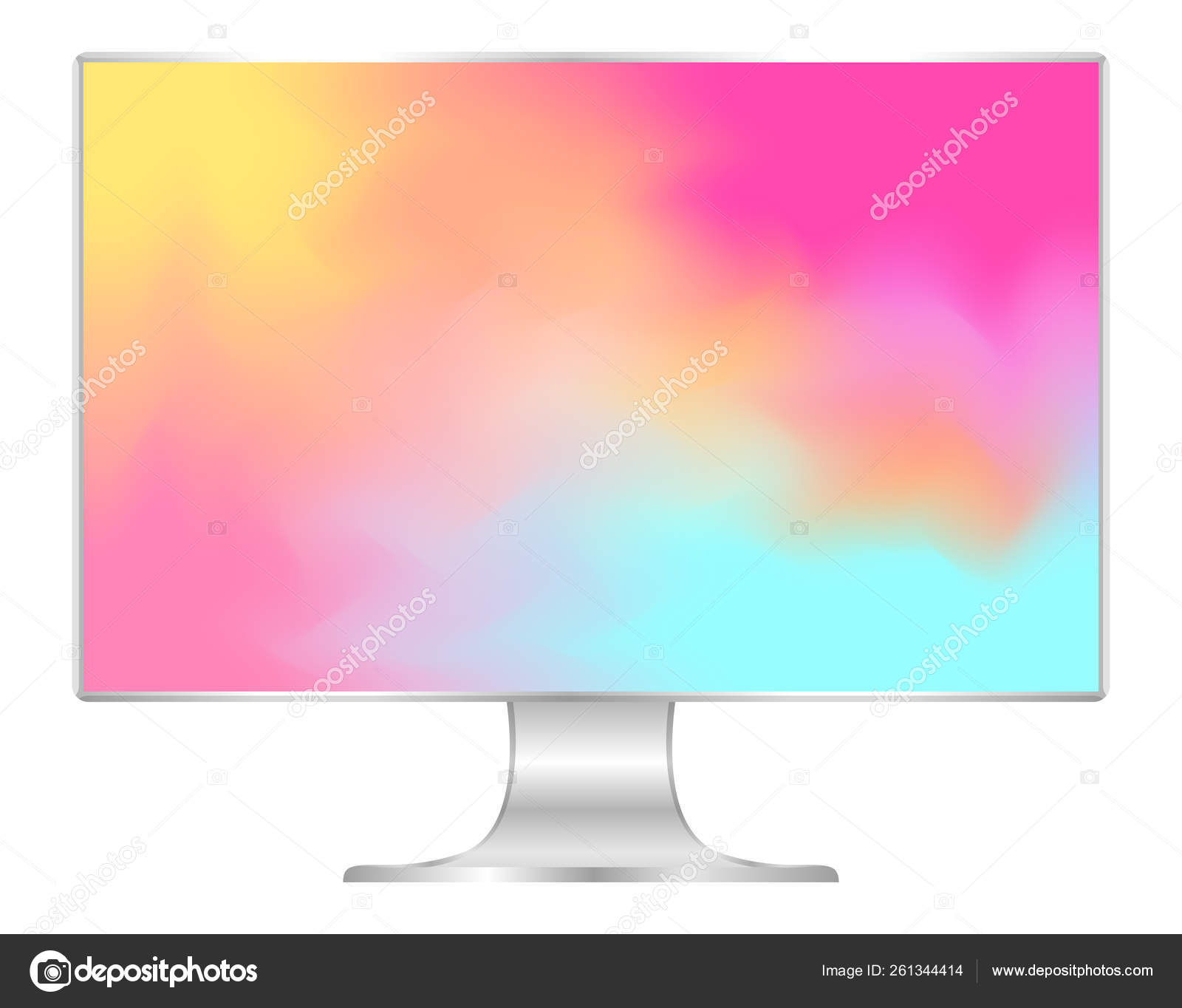 Mock Computer Wallpaper Colorful Colors Flat Monitor Multi