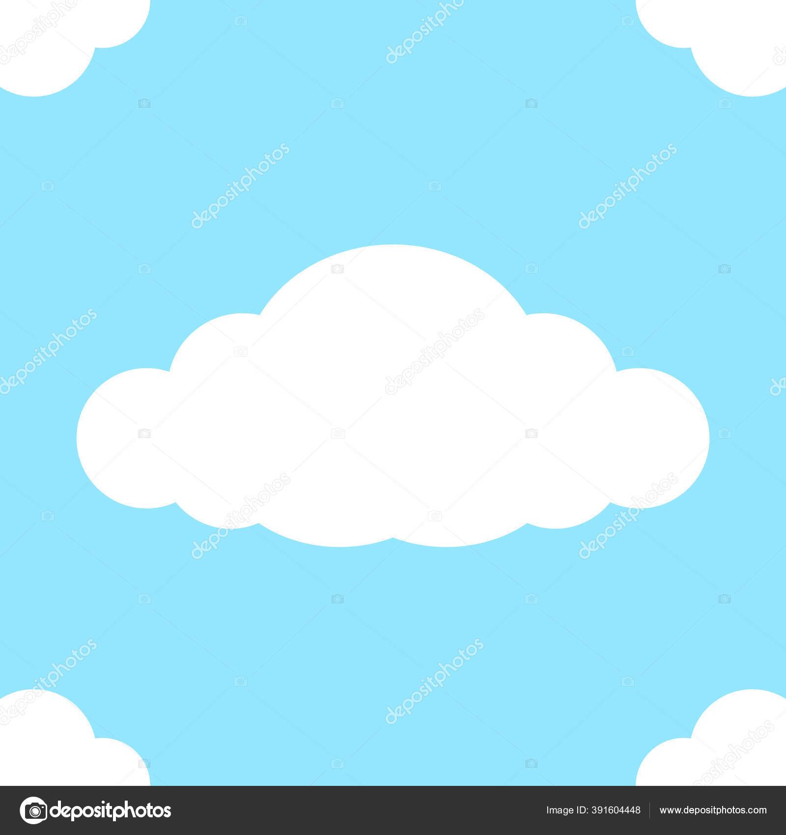 depositphotos 391604448 stock illustration cute clouds seamless pastel square