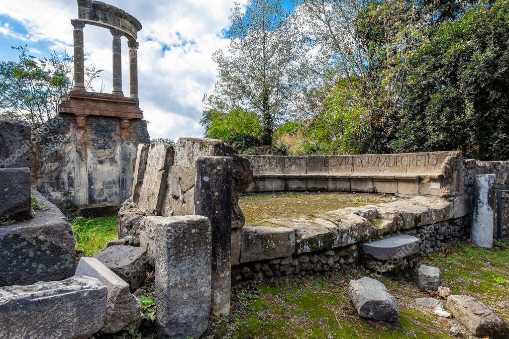 Archaeological ruin of ancient Roman city, Pompeii, Campania region, Italy.