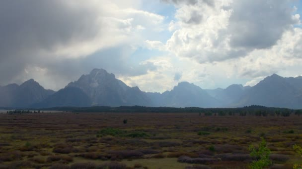 Shot of White and Cloudy Grand Teton National Park