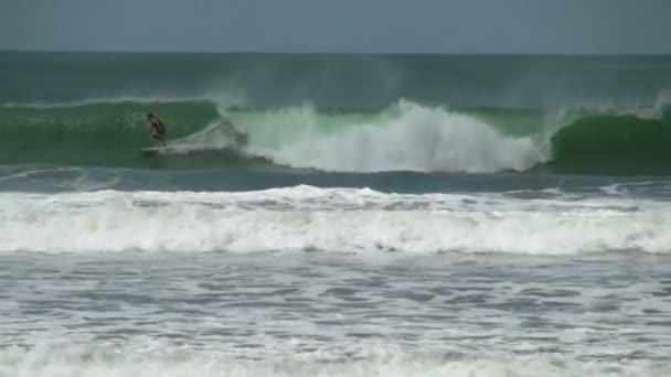 Slow Motion of Panama Surfer Riding Big Waves
