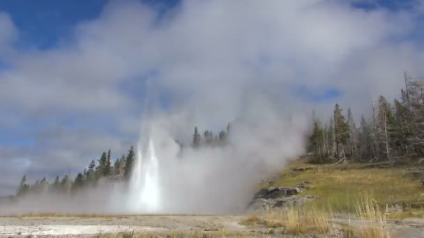 Time Lapse of the Natural and Amazing Geyser of Yellowstone National Park