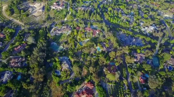 Elegant Aerial of Luxurious Homes in Rancho Santa Fe
