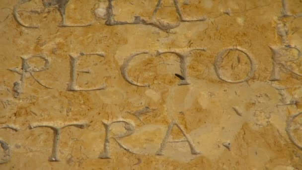 Old Scriptures and Writing on the Wall of the Grand Cathedral of Tarragona Spain