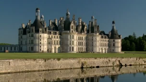 Zoom-out Effect: Amazing Beautiful Chateau de Chambord in France Showing its Magnificence