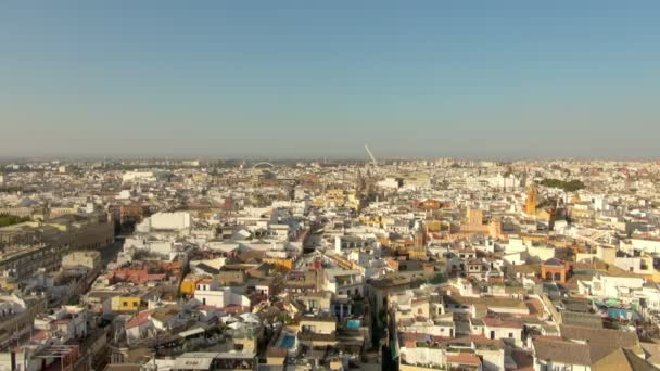 Wide: Amazing and Beautiful View of Seville Spain City from High Above with the Horizon as Its Backdrop
