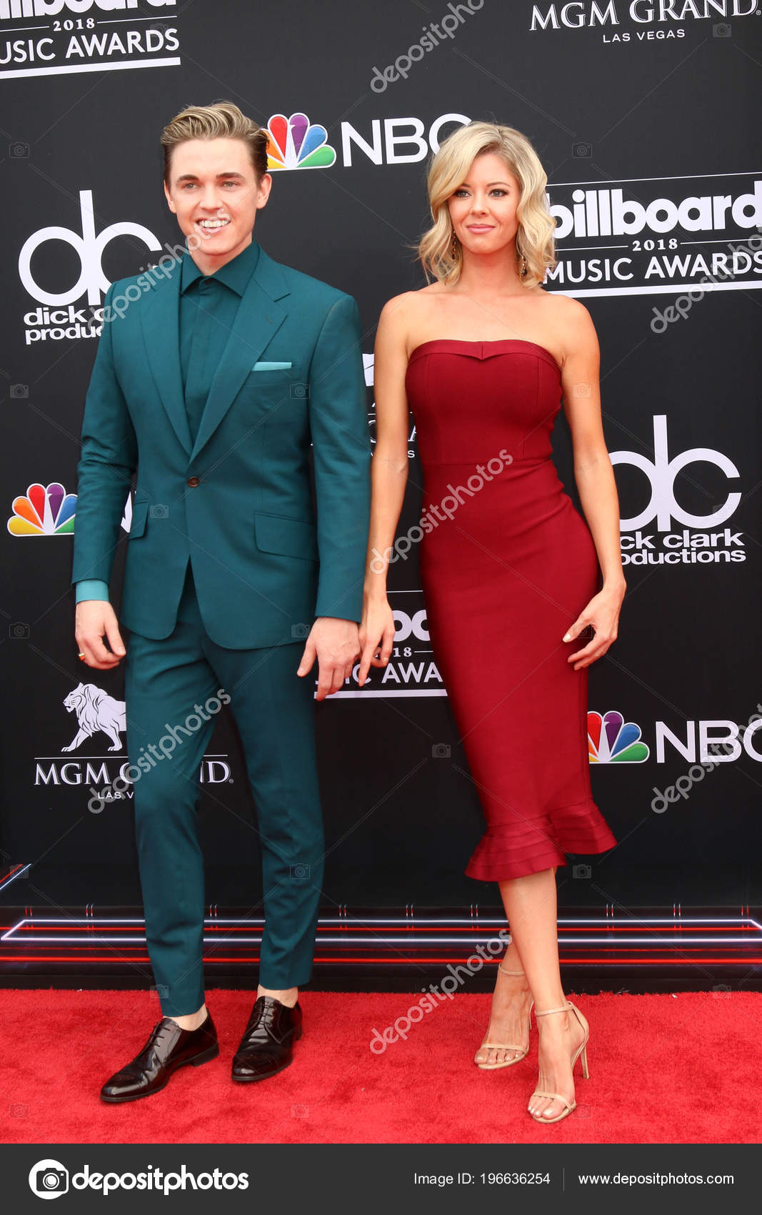 Las Vegas May Jesse Mccartney Katie Peterson 2018 Billboard Music Stock Photo