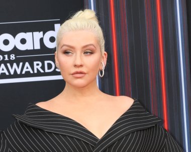 LAS VEGAS - MAY 20:  Christina Aguilera at the 2018 Billboard Music Awards at MGM Grand Garden Arena on May 20, 2018 in Las Vegas, NV
