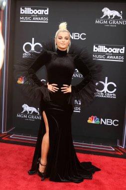 LAS VEGAS - MAY 20:  Bebe Rexha at the 2018 Billboard Music Awards at MGM Grand Garden Arena on May 20, 2018 in Las Vegas, NV